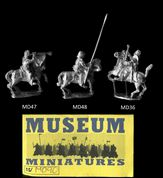Museum Miniatures 15mm Medieval MD90 Mounted Command (x 3)